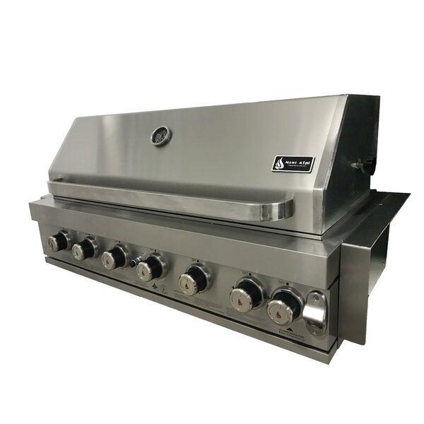 6-Burner Built-In Liquid Propane Gas Grill by Mont