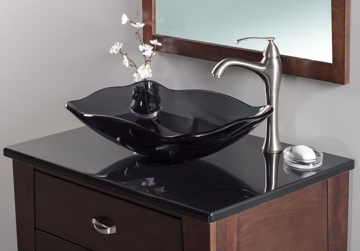 Bathroom sink pics - Oblong Glass Rectangular Vessel Bathroom Sink
