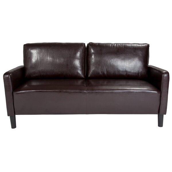 Ashbaugh 71.5-inch W Square Arm Sofa by Ebern Designs Ebern Designs