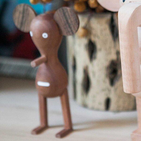 Funny Farm Mad Mouse Handmade Wood Figurine by LZF