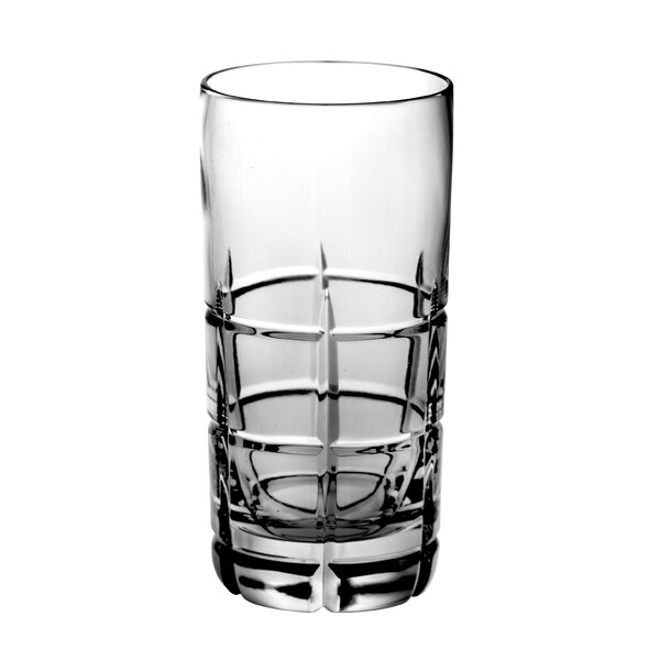 Blossom 14 oz. Crystal Highball Glass (Set of 4) by Majestic Crystal