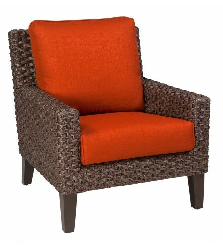 Mona Stationary Patio Chair with Cushions by Woodard