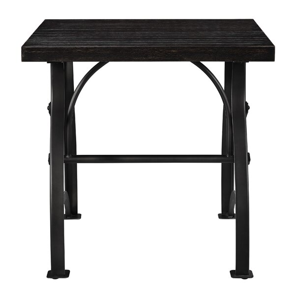 Delanie Wood and Metal End Table by Williston Forge