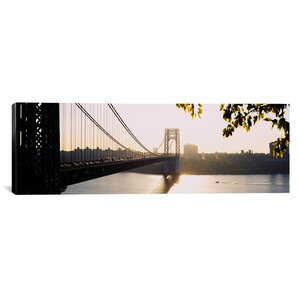 'George Washington Bridge, New York City' Photographic Print on Canvas by East Urban Home