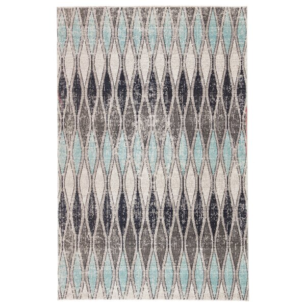 Boswell Flint Gray/Arctic Indoor/Outdoor Area Rug by Wrought Studio