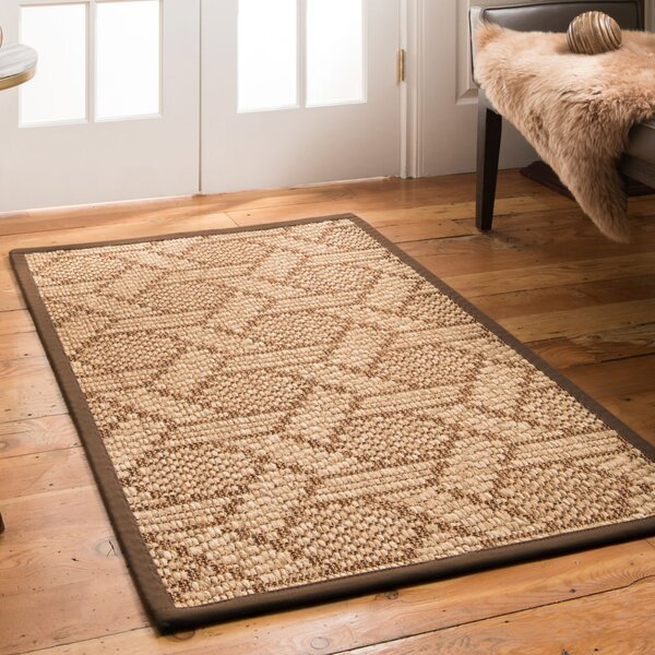 Uptown Hand Crafted Brown Area Rug by Natural Area Rugs