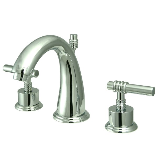 Milano Widespread Bathroom Faucet with Drain Assembly