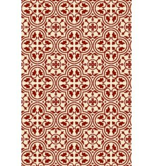 Davon Quad European Design Red/White Indoor/Outdoor Area Rug by Charlton Home