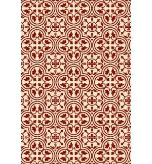 Davon Quad European Design Red/White Indoor/Outdoor Area Rug by Charlton Home