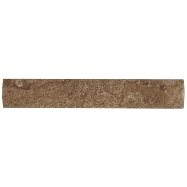 Remington 6 x 1 Ceramic Quarter Round Tile Trim in Truffle Field by Itona Tile