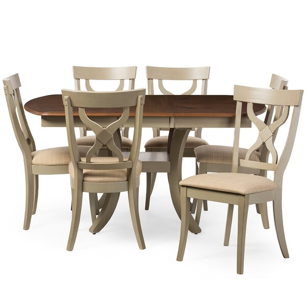 Baxton Studio Balmoral 7 Piece Dining Set by Wholesale Interiors