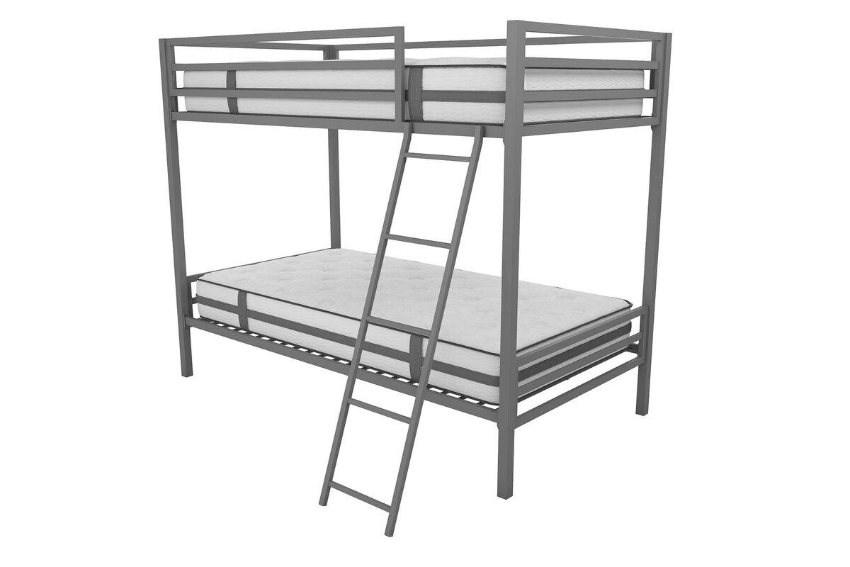 metal bunk bed. Maxwell Metal Bunk Bed L