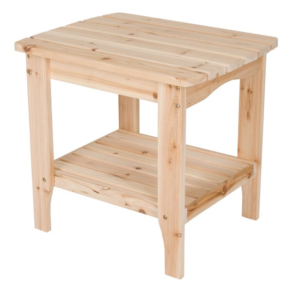 Makayla Rectangular Scroll Side Table by August Grove
