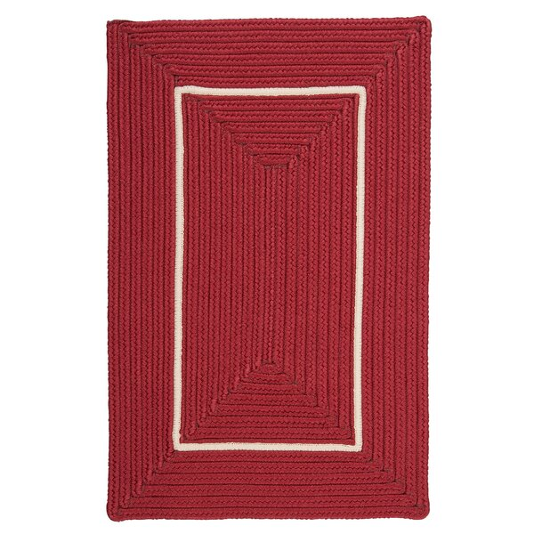 Doodle Edge Red Border in Border Indoor/Outdoor Area Rug by Colonial Mills