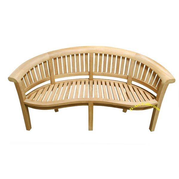 Island Teak Wood Garden Bench by D-Art Collection