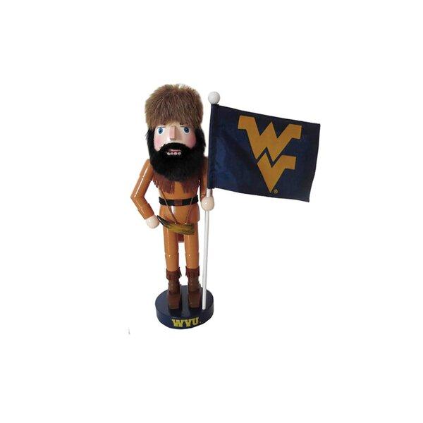 NCAA West Virginia Mascot and Flag Nutcracker Figurine by Santa's Workshop
