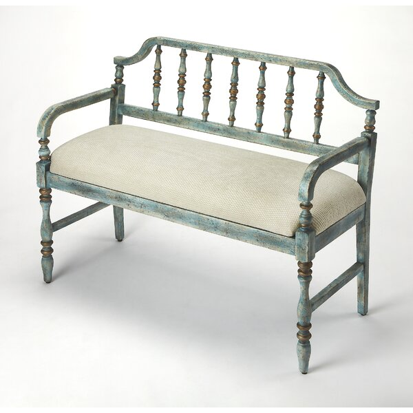 Prescott Weathered Bench by World Menagerie