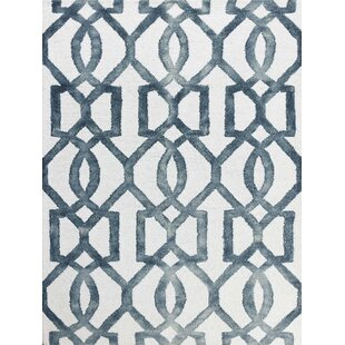 Buy luxury Eltingville White & Gray Area Rug By Wrought Studio