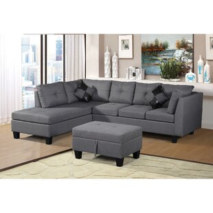 Hafford Left Hand Facing Sectional with Ottoman