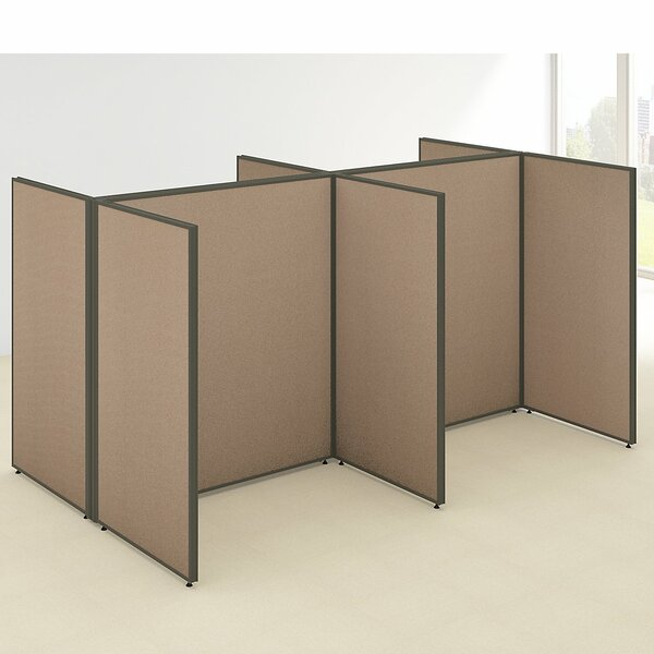 ProPanel 4 Person Open Cubicle Configuration by Bush Business Furniture