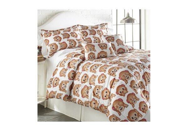 Bartram Emoji Comforter Set by Ebern Designs
