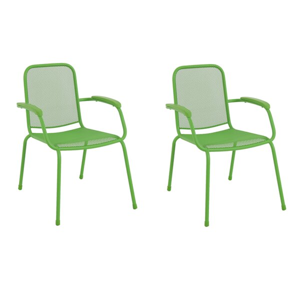 Helga Stacking Patio Dining Chair (Set of 2) by Ivy Bronx