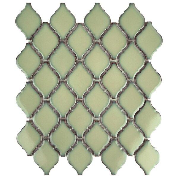 Arabesque 1.87 x 2.75 Porcelain Mosaic Tile in Thalia by EliteTile