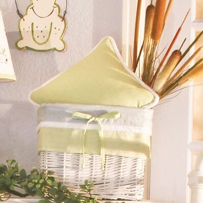Sammy The Frog Gingham Decorator Throw Pillow by Brandee Danielle