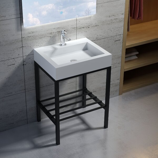 Wolkeseiben Stone 23 Console Bathroom Sink by InFurniture