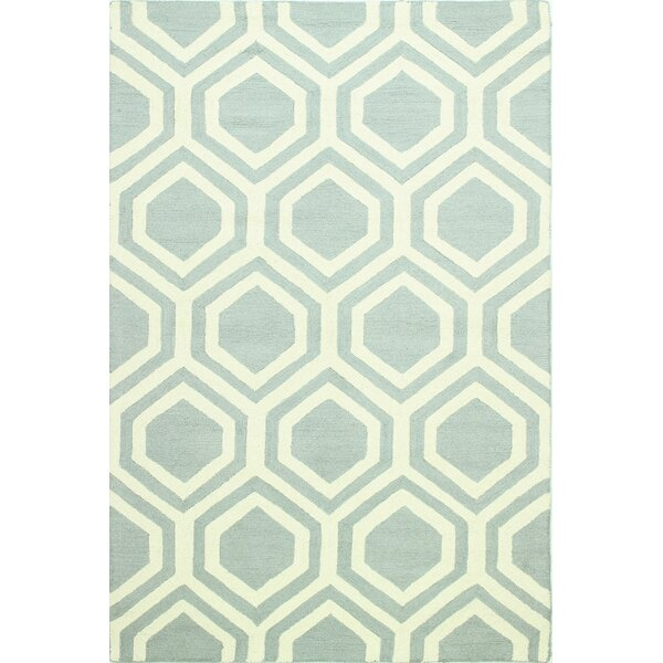 Meredith Hand-Tufted Light Blue Area Rug by Ivy Bronx