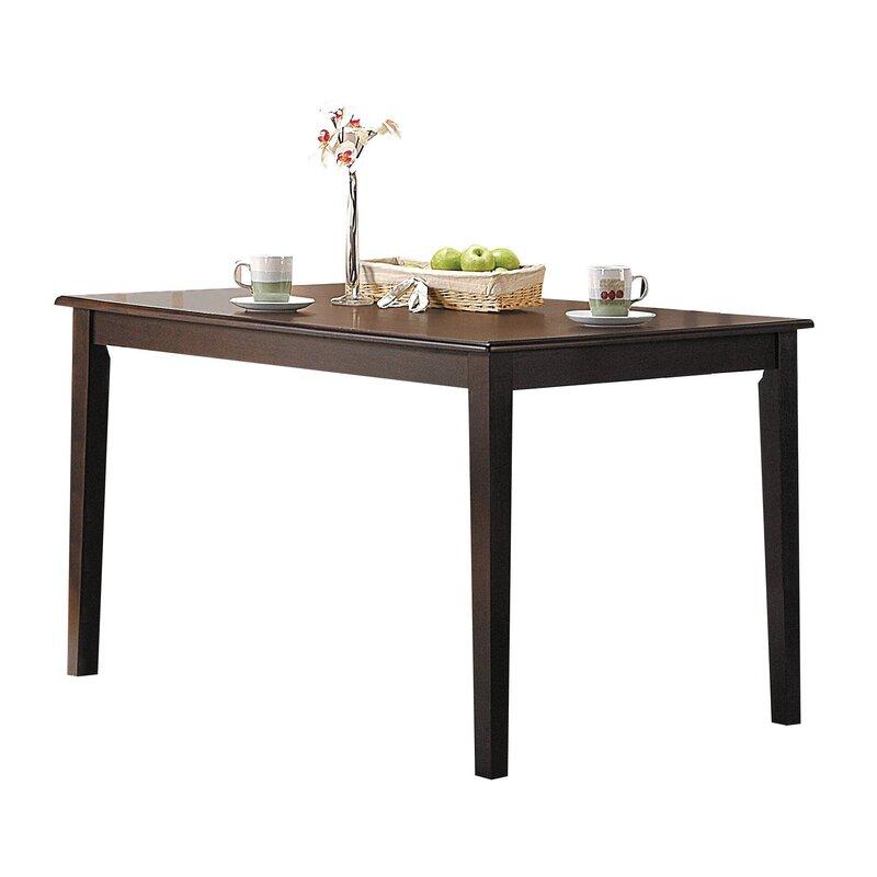 Winston Porter Wilburton Tapered Leg Solid Wood Dining Table Wayfair