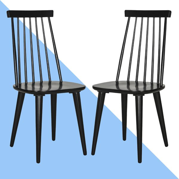 Best #1 Britt Solid Wood Dining Chair (Set Of 2) By Hashtag Home Great Reviews