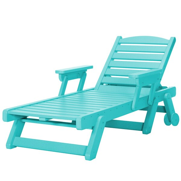 Herrman Wheeled Chaise Lounge