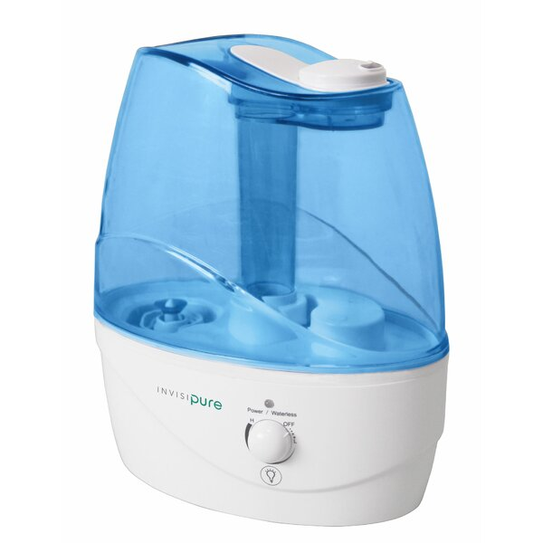 Wave 0.66 Gal. Cool Mist Ultrasonic Tabletop Humidifier by InvisiPure