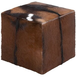 Top Reviews Leather Cube Ottoman ByCole & Grey