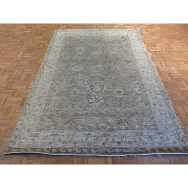 One-of-a-Kind Josephson Oushak Hand-Knotted Wool Gray Area Rug by Canora Grey