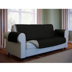 Black Sofa Loveseat Slipcovers You\'ll Love | Wayfair