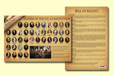 Signers of The Constitution Placemat (Set of 4) by Painless Learning Placemats