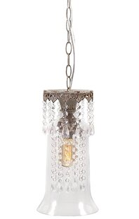 Best Reviews Whitney 1-Light Crystal Pendant By Woodland Imports