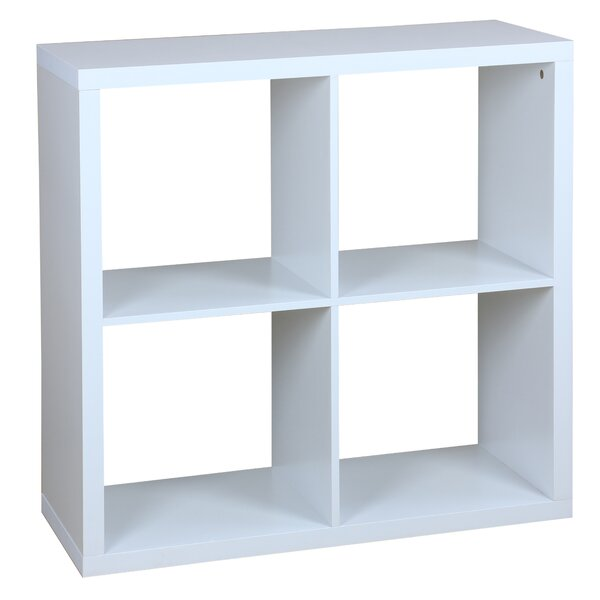 Lizbeth 4 Open Wood Cube Bookcase By Rebrilliant Savings