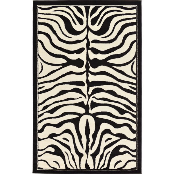 Leif Black Area Rug by World Menagerie