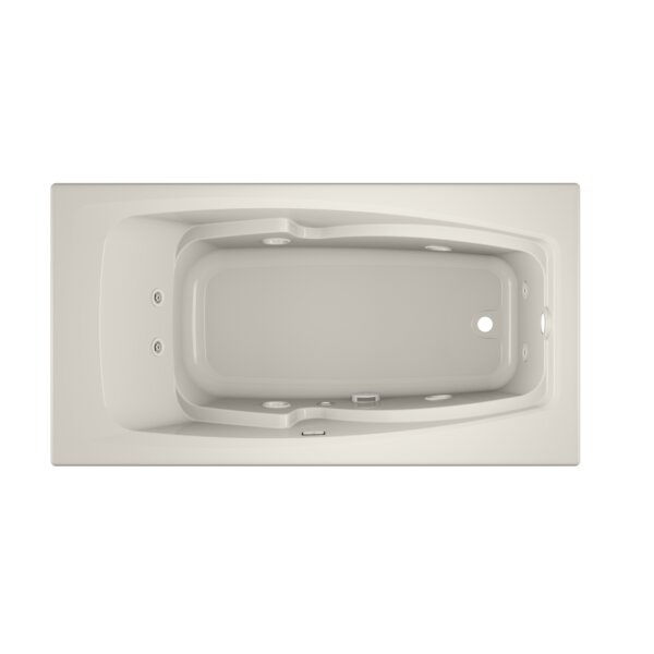 Cetra Right-Hand Heater and Chroma 60 x 32 Drop in Whirlpool Bathtub by Jacuzzi®