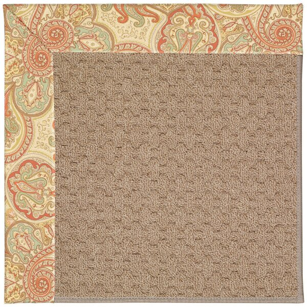 Lisle Machine Tufted Auburn/Brown Indoor/Outdoor Area Rug by Longshore Tides