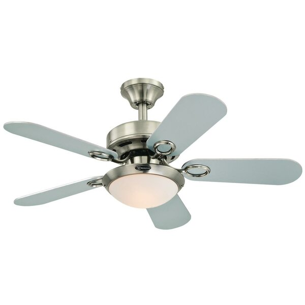 36 Birchwood Two-Light Reversible 5-Blade Indoor Ceiling Fan by Andover Mills