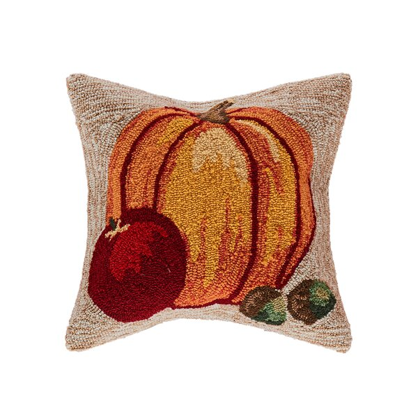 Treport Harvest Pumpkin Indoor/Outdoor Throw Pillow by August Grove