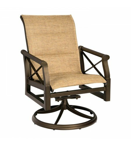 Andover Swivel Patio Dining Chair by Woodard
