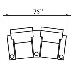Celebrity Home Theater Row Seating (Row Of 2) By Bass