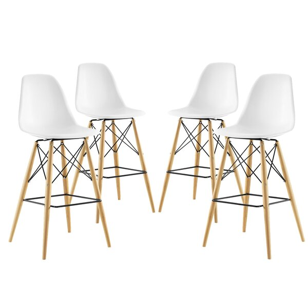 Pyramid 29.5 Bar Stool (Set of 4) by Modway