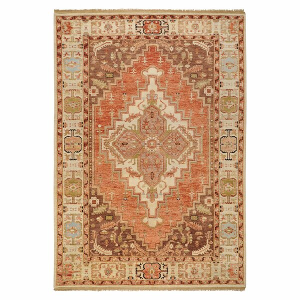 Orland Classic Beige/Rust Rug by Red Barrel Studio