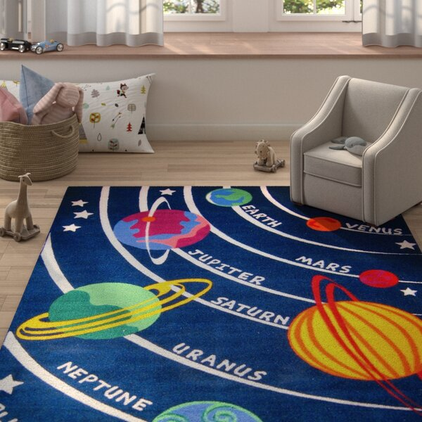 Corina Solar System Classroom Area Rug by Zoomie Kids